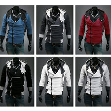 2014 Fashion Mens Casual Designed Fit Slim Hooded Cardigan Coat Jacket Hoodies