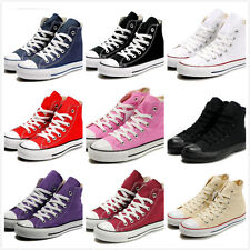 Stylish Womens Canvas Lace Up Classic Girls College Sneaker Espadrilles Shoes SZ