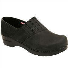 Sanita Women's Basil Clog in Black Oiled Leather - Brand New!