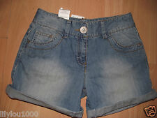 NEXT BLUE DISTRESSED ADJUSTABLE ROLLED SHORTS AGE 4,11,13 NWT