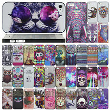 Fashion Colorful Painted Pattern Back  Case Cover Protector For iPhone 4G 5S 5C