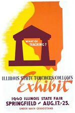 6866.Illinois state teachers colleges.exhibit.POSTER.art wall decor