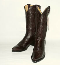 Lucchese Men's N1614 Black Cherry Cordoba Western Dress Boot with Snip Toe