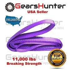 "1"" WIDE 2 PLY FLAT NYLON WEB SLING HEAVY DUTY LIFTING TOW STRAP 11000 LBS"