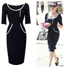 60s Retro Vintage Celeb Womens Pinup Rockabilly Party Cocktail Midi Sheath Dress