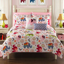 BEAUTIFUL 9PC PINK PURPLE ELEPHANT GIRLS BED IN BAG COMFORTER SET W/SHEETS CUTE