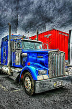 Blue Kenworth - CANVAS OR PRINT WALL ART