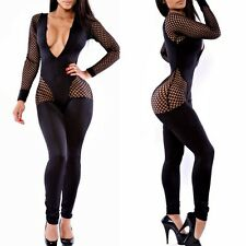 Sexy Women Bodycon Bandage Rompers Jumpsuits Fashion Bodysuit Clubwear Black
