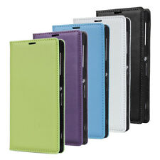 genuine wallet leather case for Sony Xperia Z1 Honami L39h C6906 ,5 Colors r
