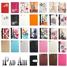 Premium PU Leather Case Cover Stand For Apple iPad Air 5 + Free Screen Protector