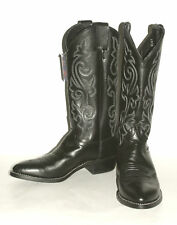 Black London Calf  ~Mens Justin Western Cowboy Boots # 1409 Leather sole