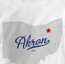 Akron Ohio OH MAP Souvenir T Shirt All Sizes & Colors