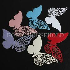 10pcs Butterfly Name Place Cards Wedding Party Favors Decoration 6 Colors New