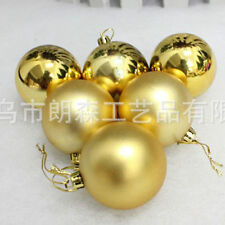 "6pcs Shiny 4""/6""/8"" Christmas Ball Plastic Indoor Outdoor Ornament"
