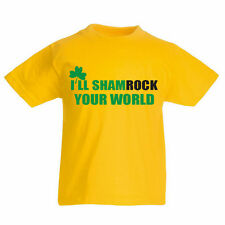 I'LL SHAMROCK YOUR WORLD - St Patrick's Day / Irish Children's Themed T-Shirt