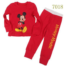 Baby boys'  Kids' Clothing Sleepwear Long T-shirt + pants Suit  Nightwear 7018UK