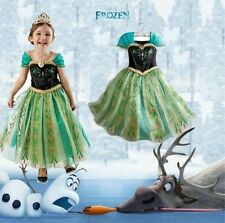 Disney Frozen Princess Anna Girls Kids Dress Skirt Cosplay Costume