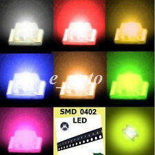 20pcs 0402 Green Amber Blue Red Orange Super Bright LED LEDs Lamp Light SMT SMD