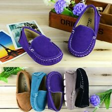 Hot Sell Boy's Girl's Soft Rubber Outsole Slip On Baby Flats Child Casual Shoes