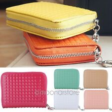 Candy Color Cute Small Purse Clutch Wallet Short Mini Bag PU Card Holder Handbag