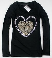NWT Women's 19656 Moschino Leopard Heart-shaped Pattern T-Shirts/Top 3 Colors