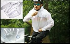 1 pc New fashion Cycling Wind Coat raincoat riding bicycle White color E