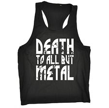 DEATH TO ALL BUT METAL VEST Top Slogan Muskel Tank Top Harter Stahl Metall