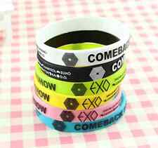 EXO Star Fasion Candy Color Wristband Unisex Silicone Bracelet Best Gifts Bangle