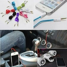 Flat AUX Cable Audio 3.5 MM Auxiliary Cord Noodle Colorful MALE MUSIC CAR Phone