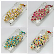 1x 3d bling clear case peacock diamond crystal cover for iphone nokia htc ipod