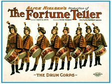 7501.The forunte teller.Line of eight boys with drums.POSTER.art wall decor