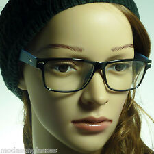 NERD Rectangle Eyewear Men Women Fashion Frame Clear Lens Eye Glasses 8 Styles