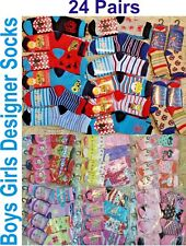 Wholesale Job Lot Kids Boys Girls Children Designer Socks Car Boot Trade Pallet