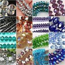 New Multi Color Swarovski Crystal Gemstone Loose Beads 4x6mm 6x8mm