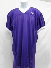 College Authentic Blank Football Jersey Purple with White Trim