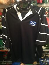 WOW 2XL SCOTLAND SCOTTISH ST ANDREWS CROSS GOLF RUGBY POLO SHIRT BLUE JERSEY