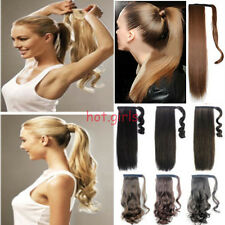 100% Excellent Clip In Pony Tail Hair Extensions Wrap Around Ponytail Hairpiece