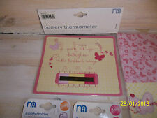 MOTHERCARE ROSEBUD Pink Butterfly Baby Nursery Thermometer Soother - BUY BUY BUY