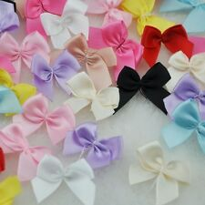 60pcs Mini Satin Ribbon Flowers Bows Gift Craft Wedding Decoration Upick A0176