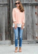 NEW sz S M Anthropologie Ruffled Citrus Pullover By Sunday in Brooklyn Lace$88