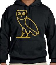oVo Octobers Very Own Black T-Shirt DRAKE Swag YMCMB Gold Owl HOODIE Long Sleeve