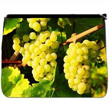 Green Grapes Growing In Vineyard Black Large Messenger School Bag