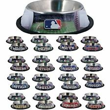 MLB Fan Gear Bowl Bowls Dish for Pets Dog Dogs Puppy Puppies STAINLESS ALL TEAMS