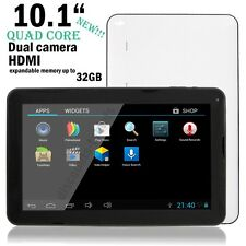 "10.1"" Quad Core Tablet PC Google Android 7"" Dual 4.4 KitKat 16GB Bluetooth HDMI"