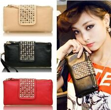 NEW 2014 Women Card Coin holder ZIP Wallet Leather Soft Clutch Purse Handbag Bag