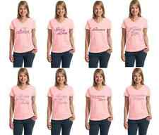 Wedding Rhinestone/stud Rehearsal Dinner Brides Party Womens 100% Cotton T-Shirt