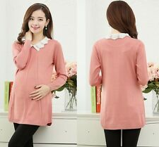 2014 new fashion Autumn and winter long sleeve LapelSweater for pregnant women