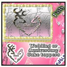 Wedding CAKE topper Edible buck mark sheet Paper camouflage heart sugar decal