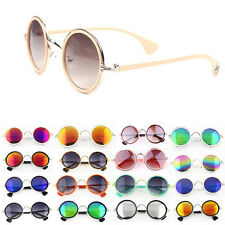 New Unisex Women Men's Vintage Retro Fashion Round UV400 Metal Sunglasses