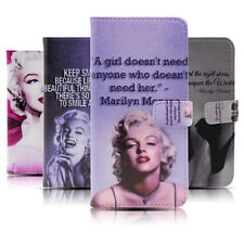 Marilyn Monroe Shoe Quote Wallet Flip PU leather Case For Apple iPhone &Samsung